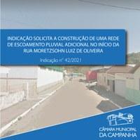 Alagamentos na Rua Moretzsohn Luiz de Oliveira preocupam moradores