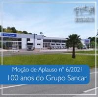 Câmara homenageia Grupo Sancar pelos 100 anos de existência