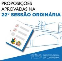 Confira as proposições aprovadas na 22° Sessão Ordinária de 2021, realizada no dia 29 de junho de 2021