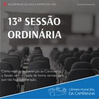 Confira as proposições da 13° Sessão Ordinária de 2021