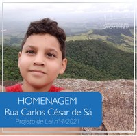 HOMENAGEM: CARLOS CÉSAR DE SÁ