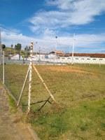 Indicação pede providencias no local destinado à construção de uma quadra de areia no Bairro Jefferson de Oliveira
