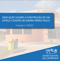 """Indicação solicita a construção de um """"Espaço Cidadão"""" no Bairro Irmão Paulo"""