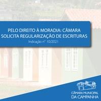 Pelo direito à moradia: Câmara solicita regularização de escrituras