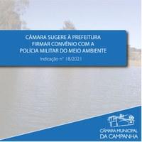 Preservação do Meio Ambiente é pauta da Indicação n° 18/2021