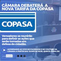 Vereadores se reunirão para debater o aumento nas taxas da COPASA